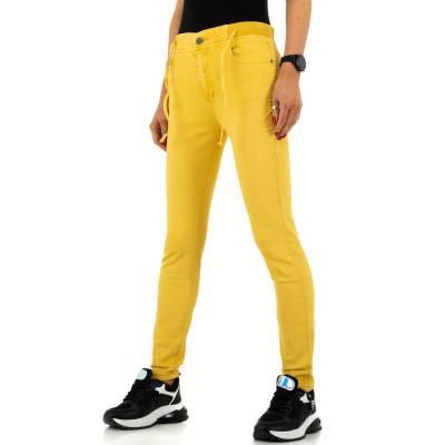Skinny Jeans für Damen in Gelb
