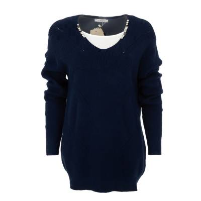 Longpullover für Damen in Blau