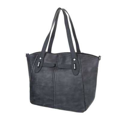 Große Damen Tasche Schwarz Grau