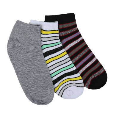 12 Paar Damen Socken Schwarz Multi