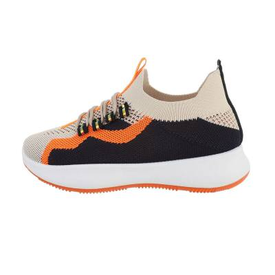 Sneakers low für Damen in Beige und Orange