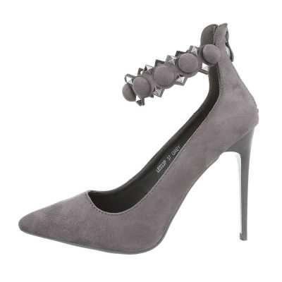 Schnür- & Riemchenpumps für Damen in Grau