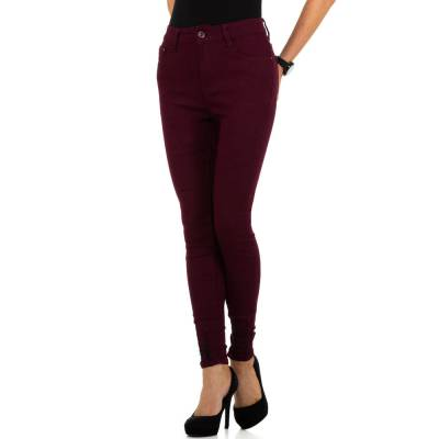 High Waist Jeans für Damen in Rot