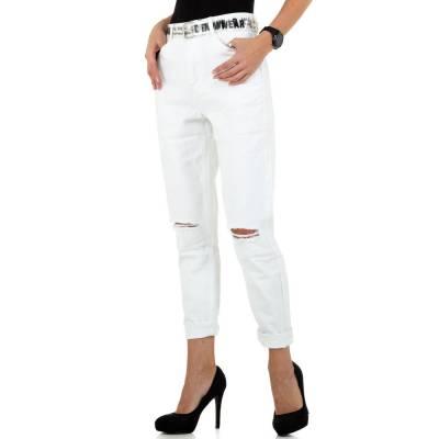 Straight Leg Jeans für Damen in Weiß