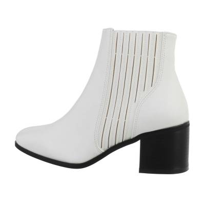 Klassische Stiefeletten für Damen in Weiß