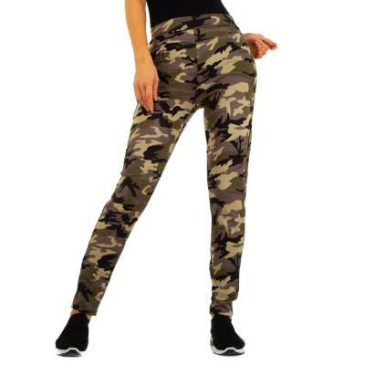 Skinny-Hose für Damen in Khaki und Camouflage