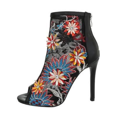 High Heel Stiefeletten für Damen in Schwarz und Blau