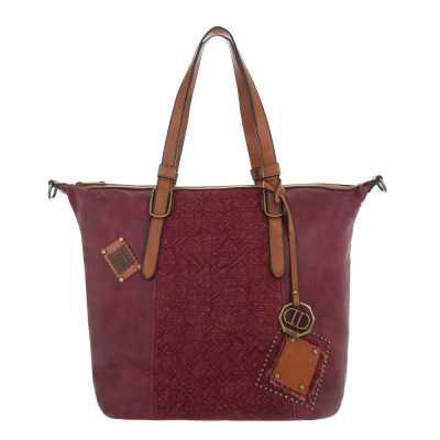 Große Damen Tasche Weinrot