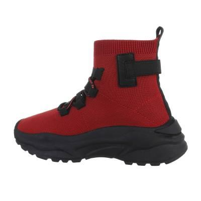 Sneakers High für Damen in Rot und Schwarz