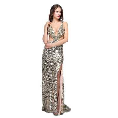 Abendkleid für Damen in Gold
