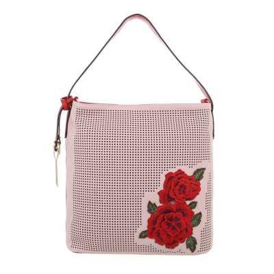 Mittelgroße Damen Tasche Rosa Rot