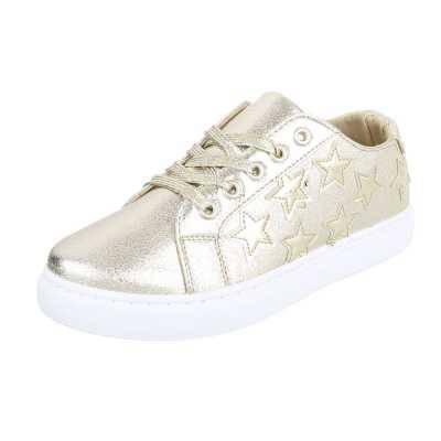 Sneakers low für Damen in Gold