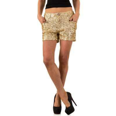 Hotpants für Damen in Gold
