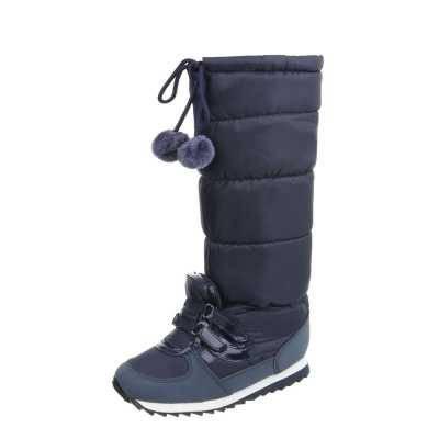 Flache Stiefel für Damen in Blau