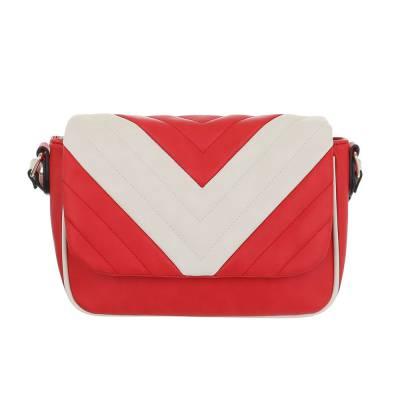 Kleine Damen Tasche Rot Beige