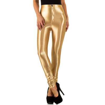 Skinny-Hose für Damen in Gold