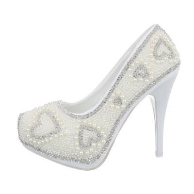 High Heel Pumps für Damen in Weiß und Gold