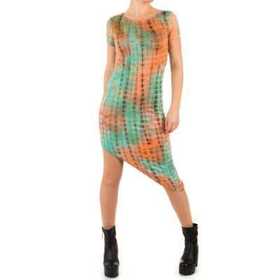 Stretchkleid für Damen in Orange
