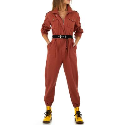 Langer Jumpsuit für Damen in Rot