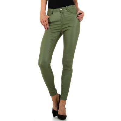 Hose in Lederoptik für Damen in Grün