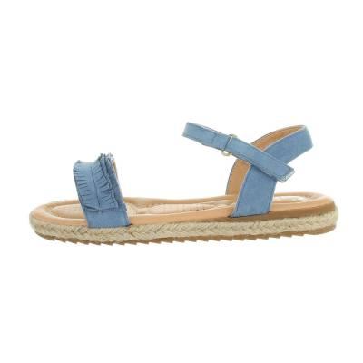 Mädchen Kinder Sandalen Blau