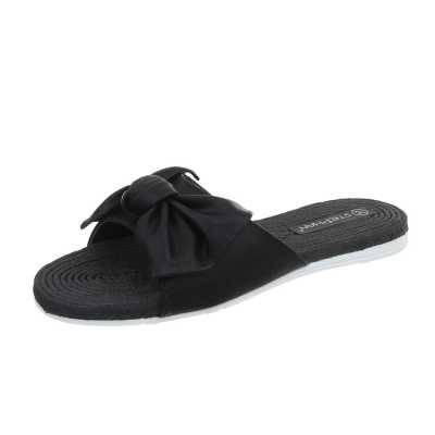Pantoletten für Damen in Schwarz