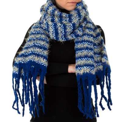 Großer Wollmix Xxl Schal Blau