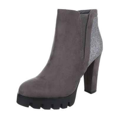 High Heel Stiefeletten für Damen in Grau