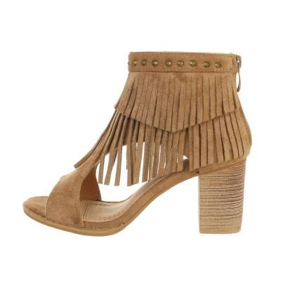High Heel Stiefeletten für Damen in Braun