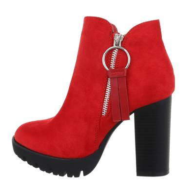High Heel Stiefeletten für Damen in Rot