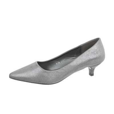 Klassische Pumps für Damen in Grau und Silber