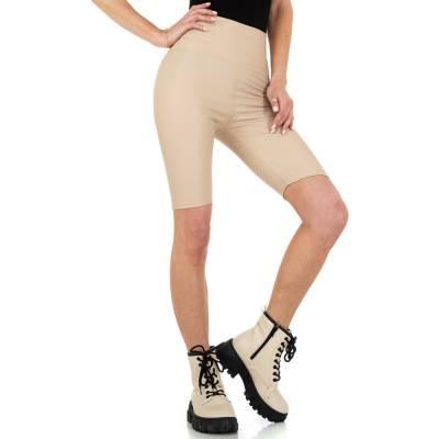 High Waist Shorts für Damen in Beige