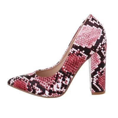 High Heel Pumps für Damen in Rot und Grau