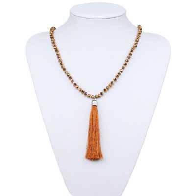 Halskette für Damen in Braun