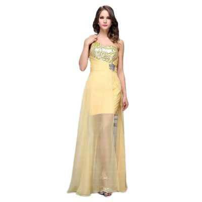 Abendkleid für Damen in Gelb