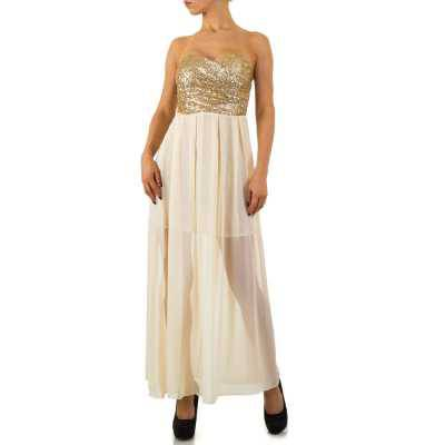Maxikleid für Damen in Gold