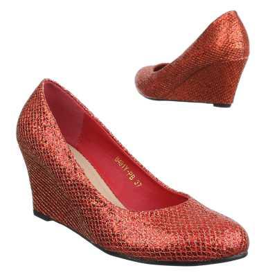Keilpumps für Damen in Rot