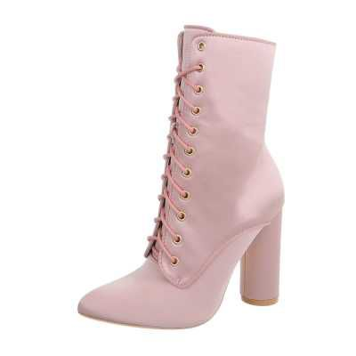 High Heel Stiefeletten für Damen in Rosa