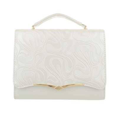 Kleine Damen Tasche Weiß Gold