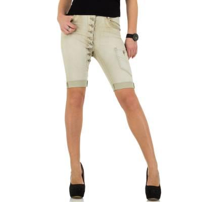 Jeansshorts für Damen in Beige
