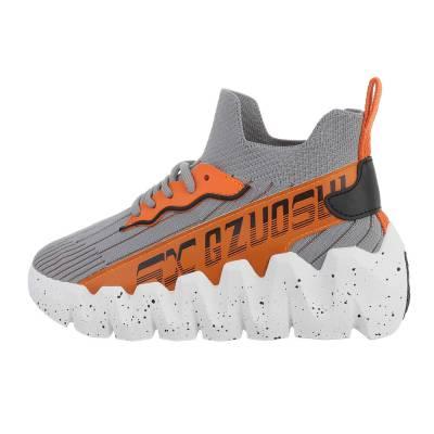 Sneakers Low für Damen in Grau und Orange