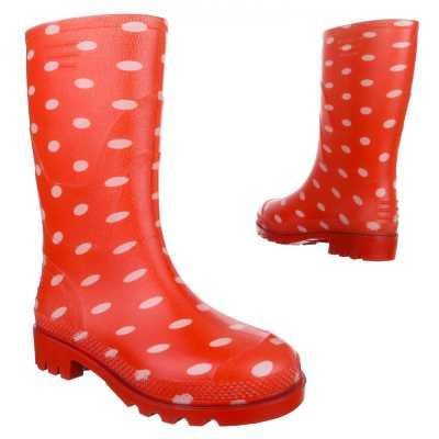 Mädchen Kinder Gummi Stiefel Rot