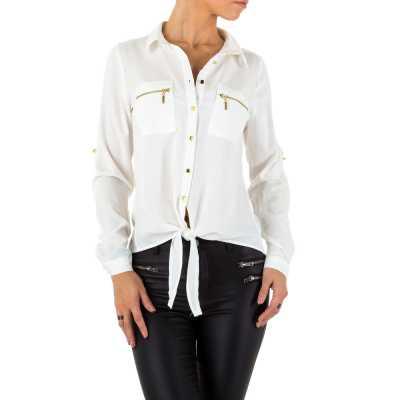 Hemdbluse für Damen in Weiß