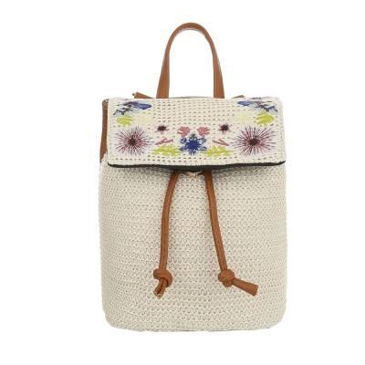 Rucksack für Damen in Braun und Creme