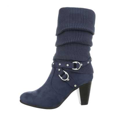 High Heel Stiefel für Damen in Blau