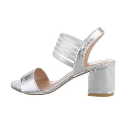 High Heel Sandaletten für Damen in Silber