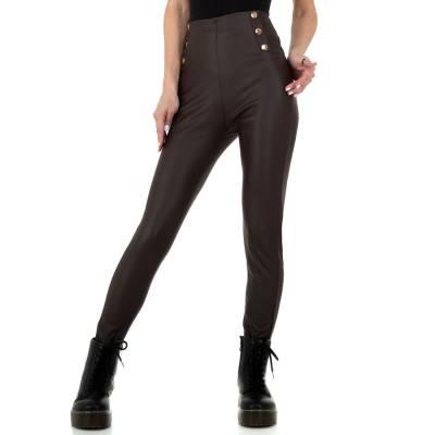 Leggings in Lederoptik für Damen in Braun