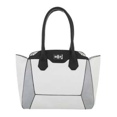 Mittelgroße Damen Tasche Weiß Grau