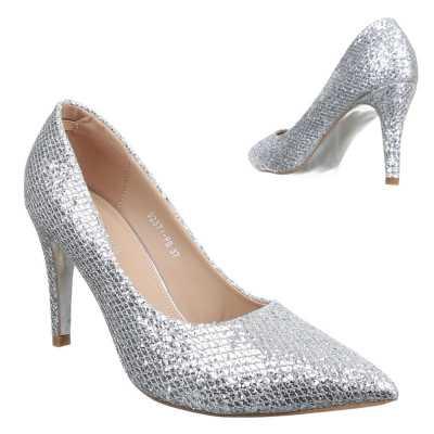High Heel Pumps für Damen in Silber
