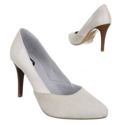 High Heel Pumps für Damen in Creme